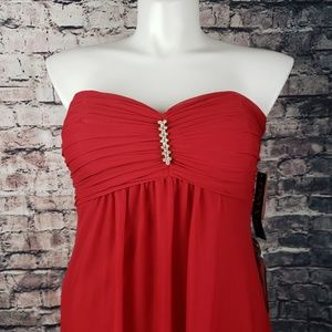 Onyx Nite Red Bling Evening Gown Size 14